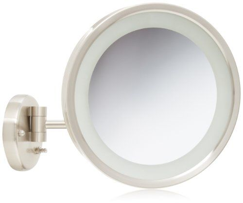 Jerdon Hl1016nl 9 5 Inch Led Lighted Wall Mount Makeup Mirror With