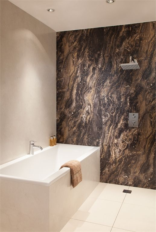 Beau Classic Marble Effect Bathroom Wall Panels | Calacatta Marble | Bushboard