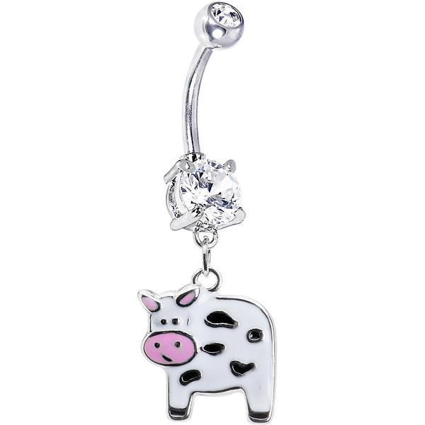 Cute Moo Cow Belly Ring