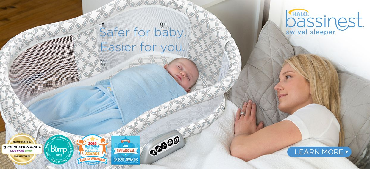 HALO Bassinest Swivel Sleeper  Safer for Baby. Easier for you ... f4a54f9fd