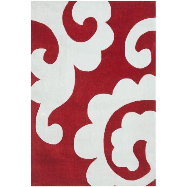 Modern Art Red / Ivory Indoor Rug