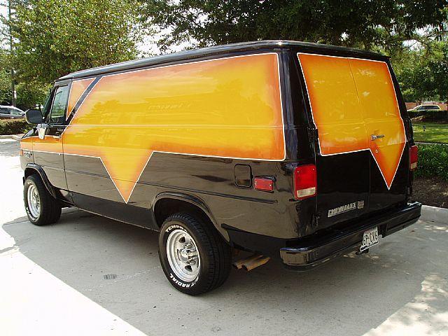 Custom Chevy Cargo Custom Vans 1992 Chevrolet G30 Diesel Custom Van Conversion Van Actually The Custom Vans Custom Vans For Sale Vans