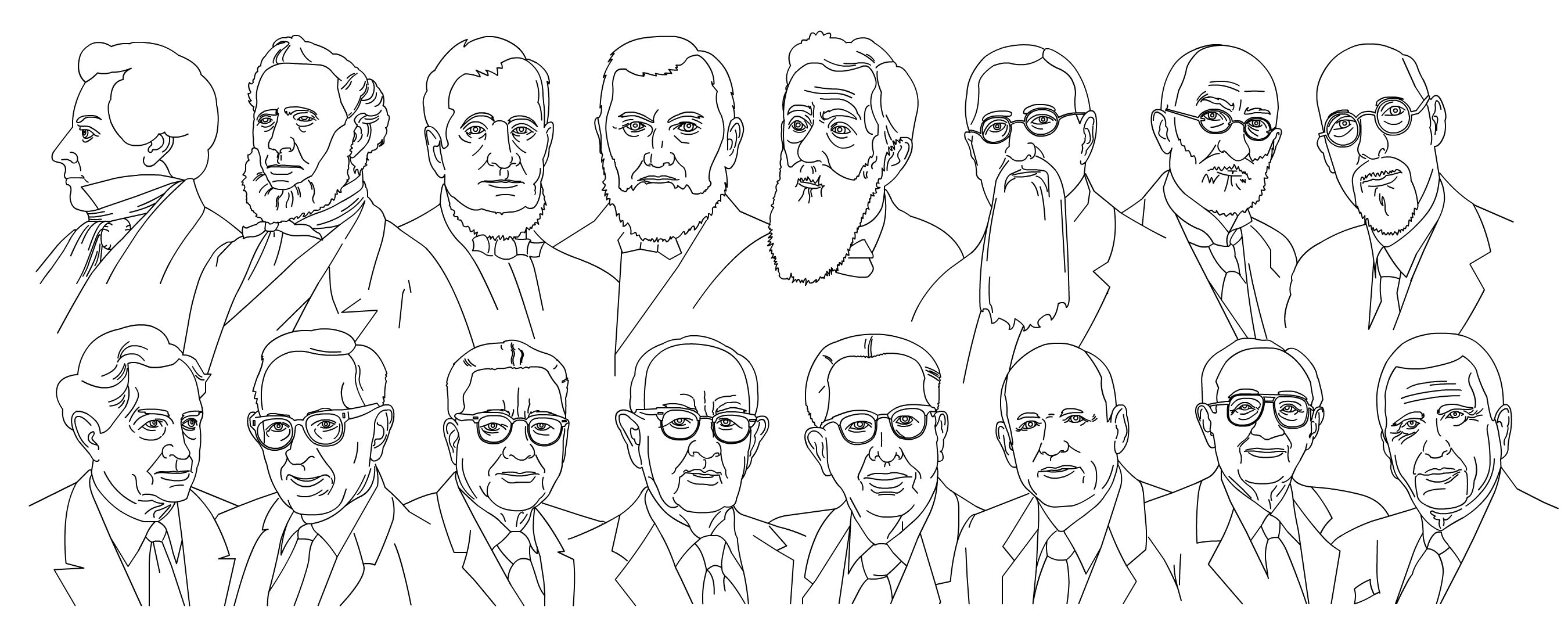 modern family coloring pages | { Mormon Share } Modern Day Prophets | Lds art, Lds ...