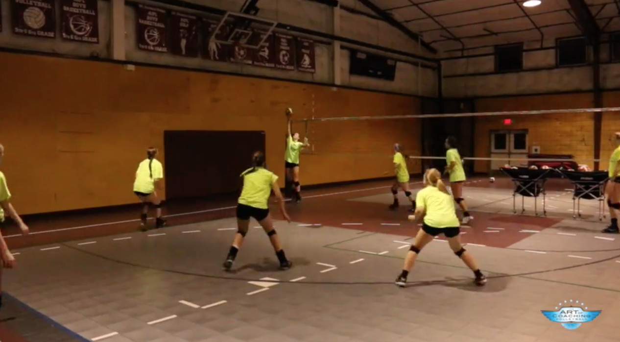 Cooperative Defense Drill The Art Of Coaching Volleyball Coaching Volleyball Volleyball Practice Volleyball Workouts