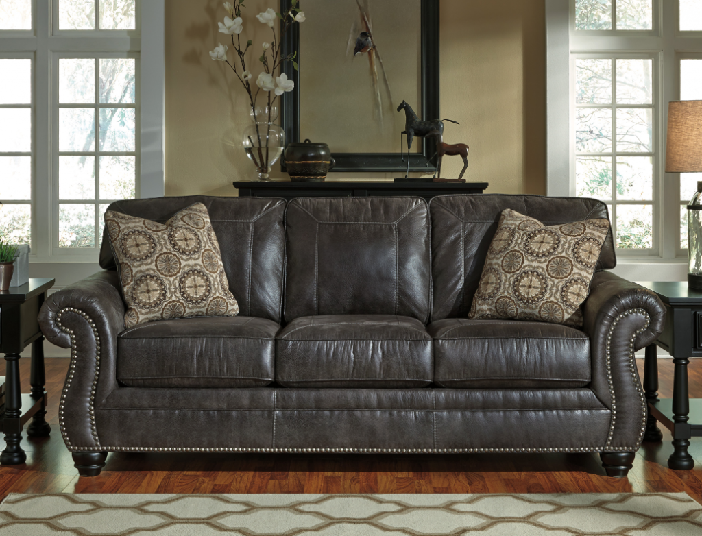 Best Ashley Breville Charcoal Sofa And Love Seat Price Drop 400 x 300