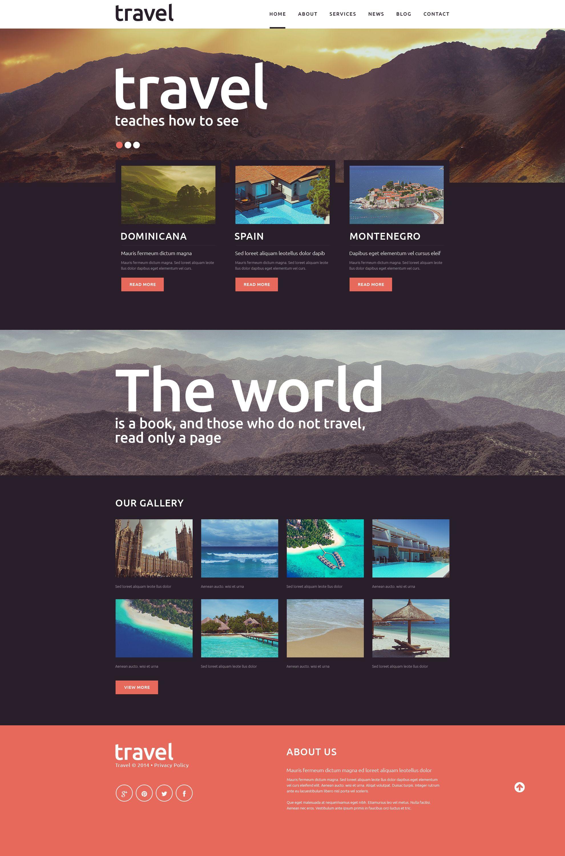 Travel Spot Joomla Template | Template, Web design inspiration and Ui ux