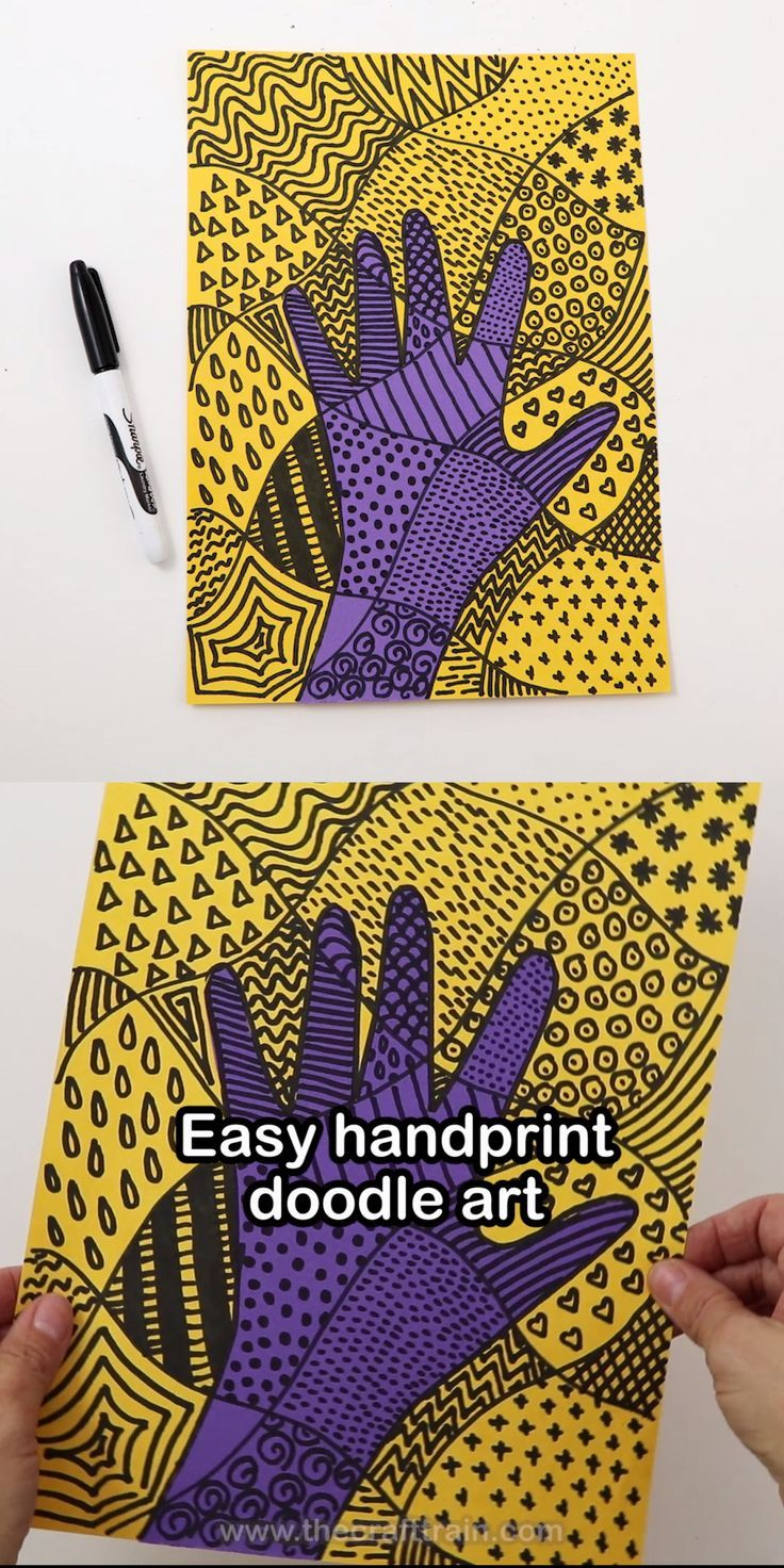 Photo of Create eye-catching doodle works of art with your own handprint as the basis of the C… – Indispensable address of art