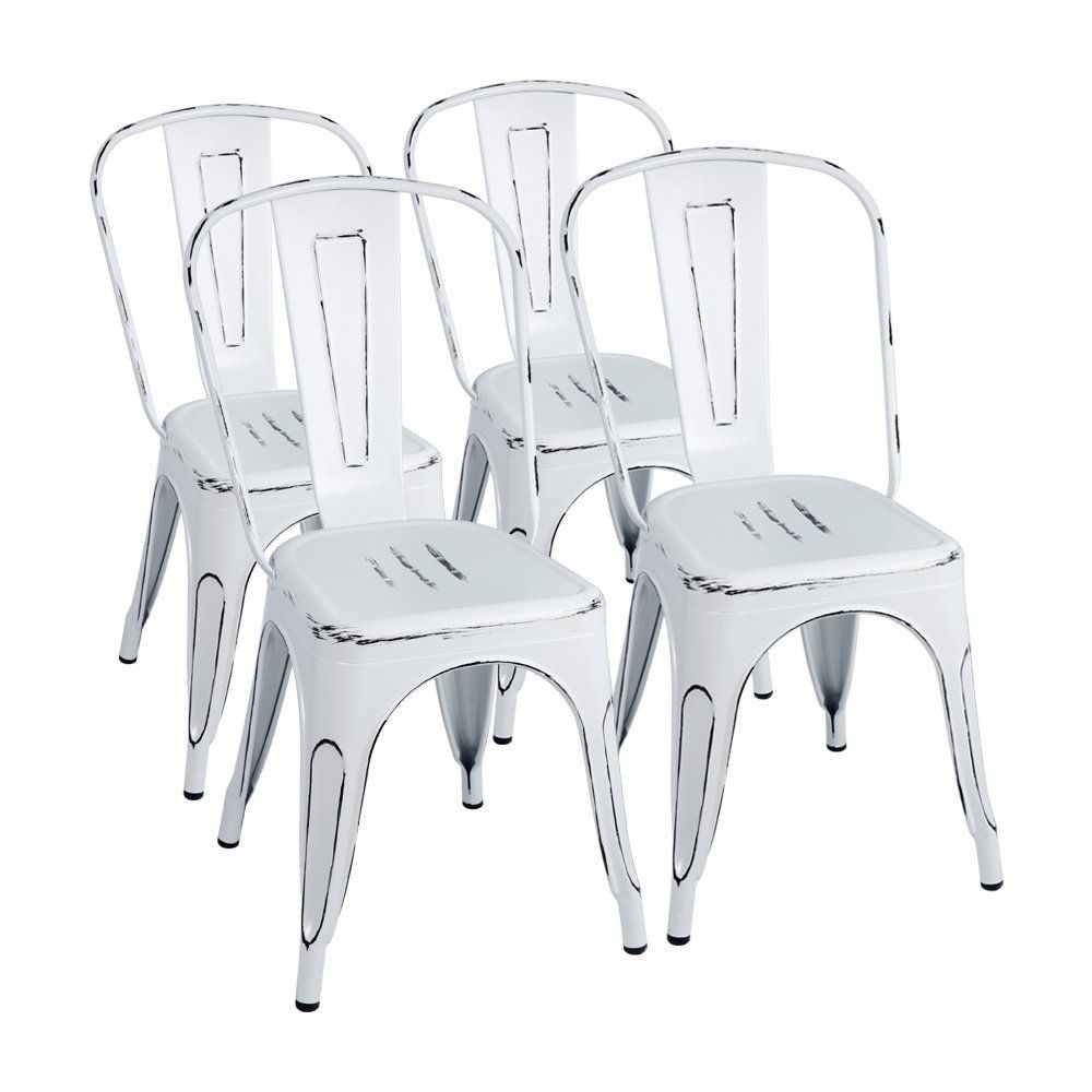distressed metal furniture. Farmhouse Metal Chairs - Dreamy And Affordable Fixer Upper Style White Distressed Chairs. Affiliate Link. Furniture T