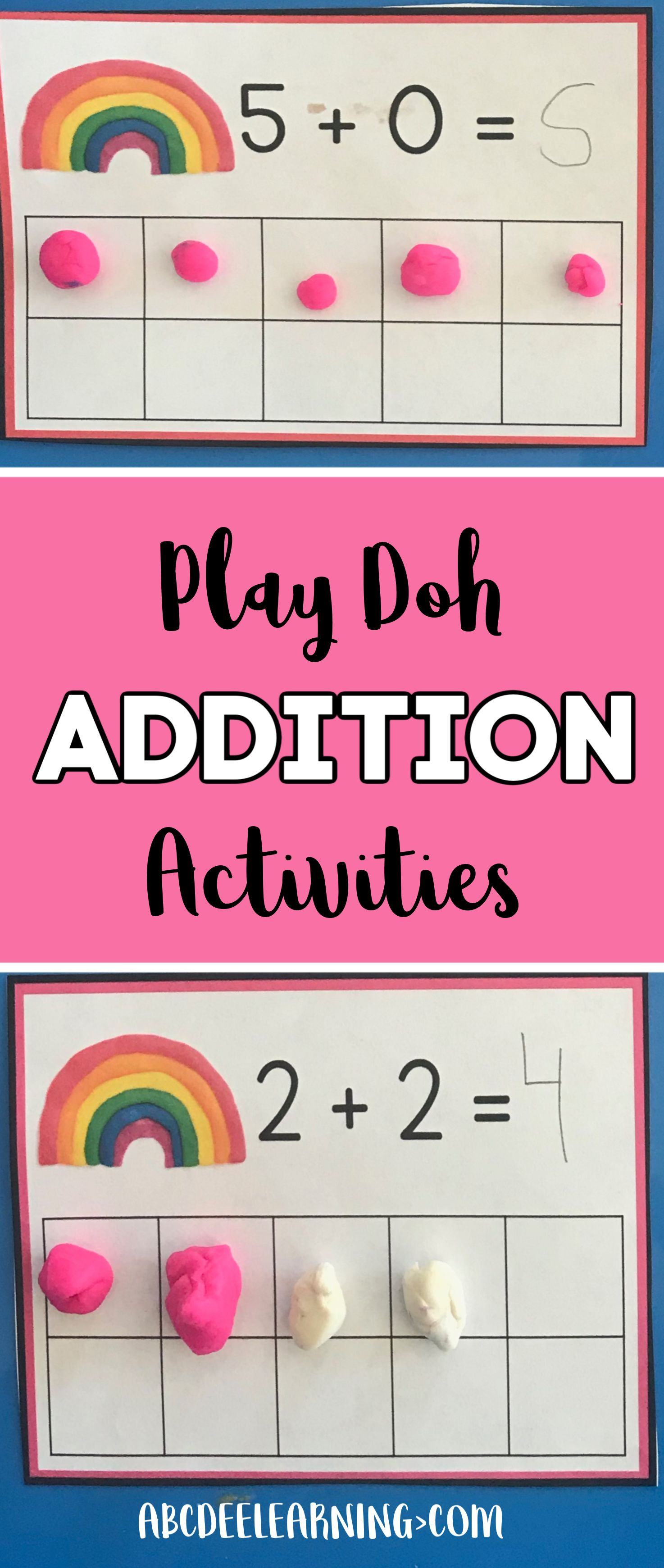 Play Doh Addition Addition Activities Kindergarten Activities Addition Kindergarten Simple addition activities for