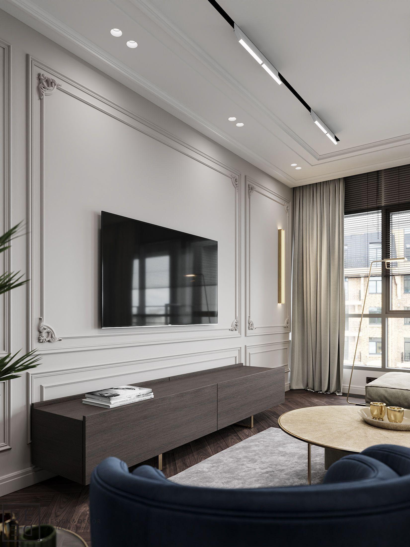 Modern Classic Living Room Interior Design: DE&DE/Blueberry Flat On Behance