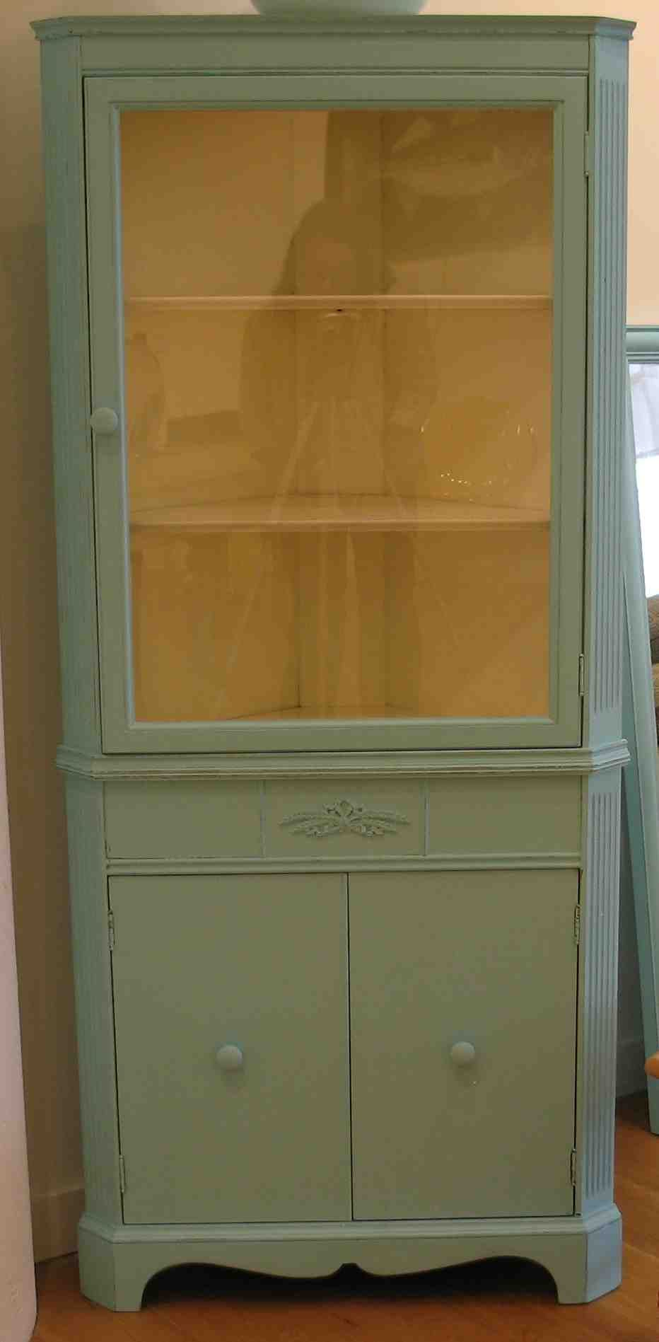 Finished Cabinet Doors Corner Cabinets Sweet Vintage Piece This 1930s Corner Cabinet