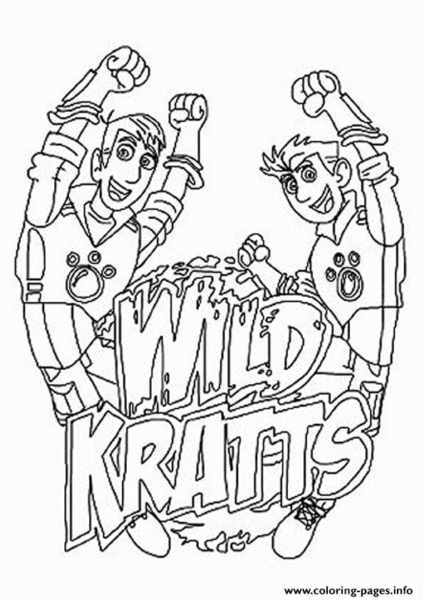 Print Wild Kratts The Logo Coloring Pages Wild Kratts Birthday Party Wild Kratts Birthday Wild Kratts