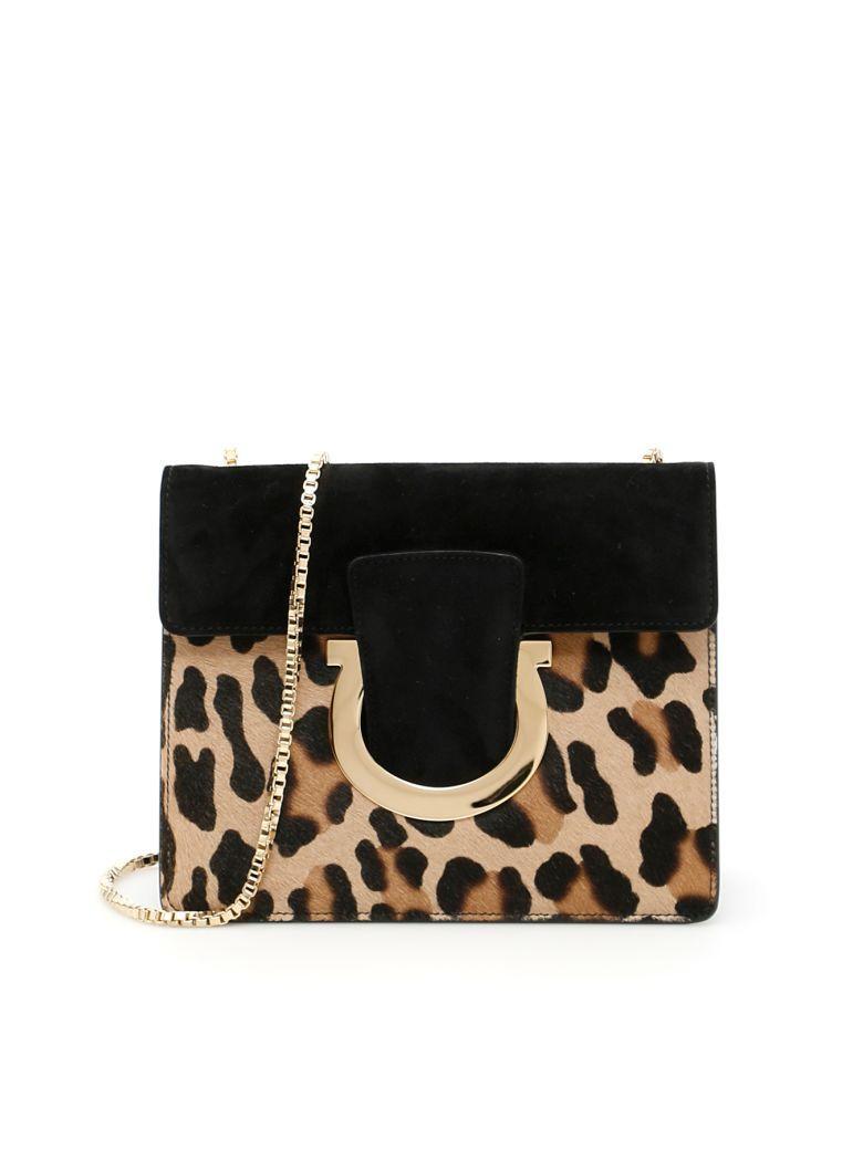 SALVATORE FERRAGAMO Thalia Bag.  salvatoreferragamo  bags  shoulder bags   animal print  suede  lining   668422fc2946f