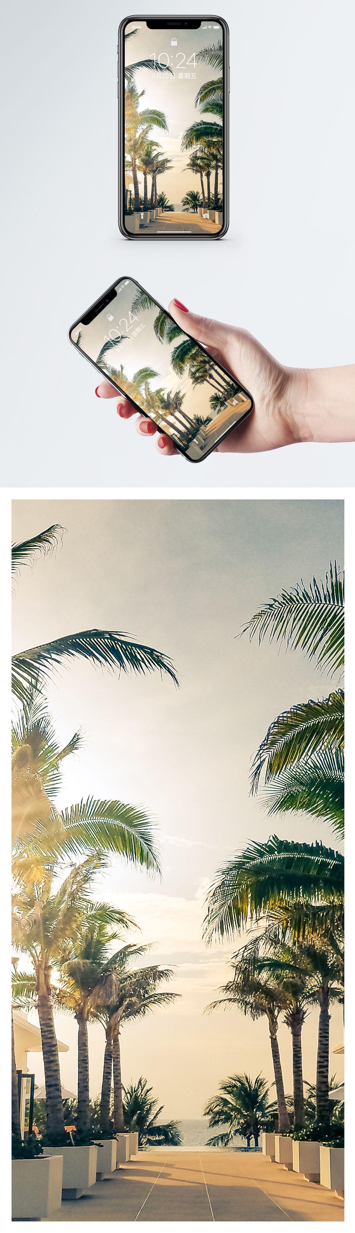Tropical scenic handset wallpaper Landscape mobile phone