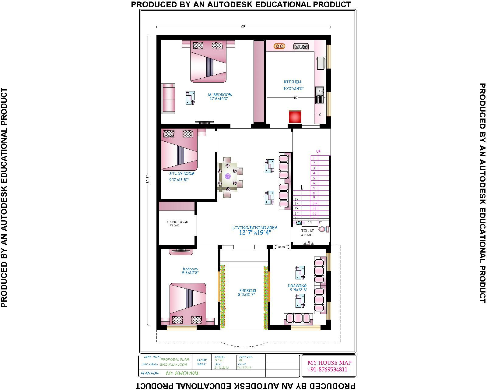 house-map-india.jpg (1600×1280) | House map, Floor plans ...