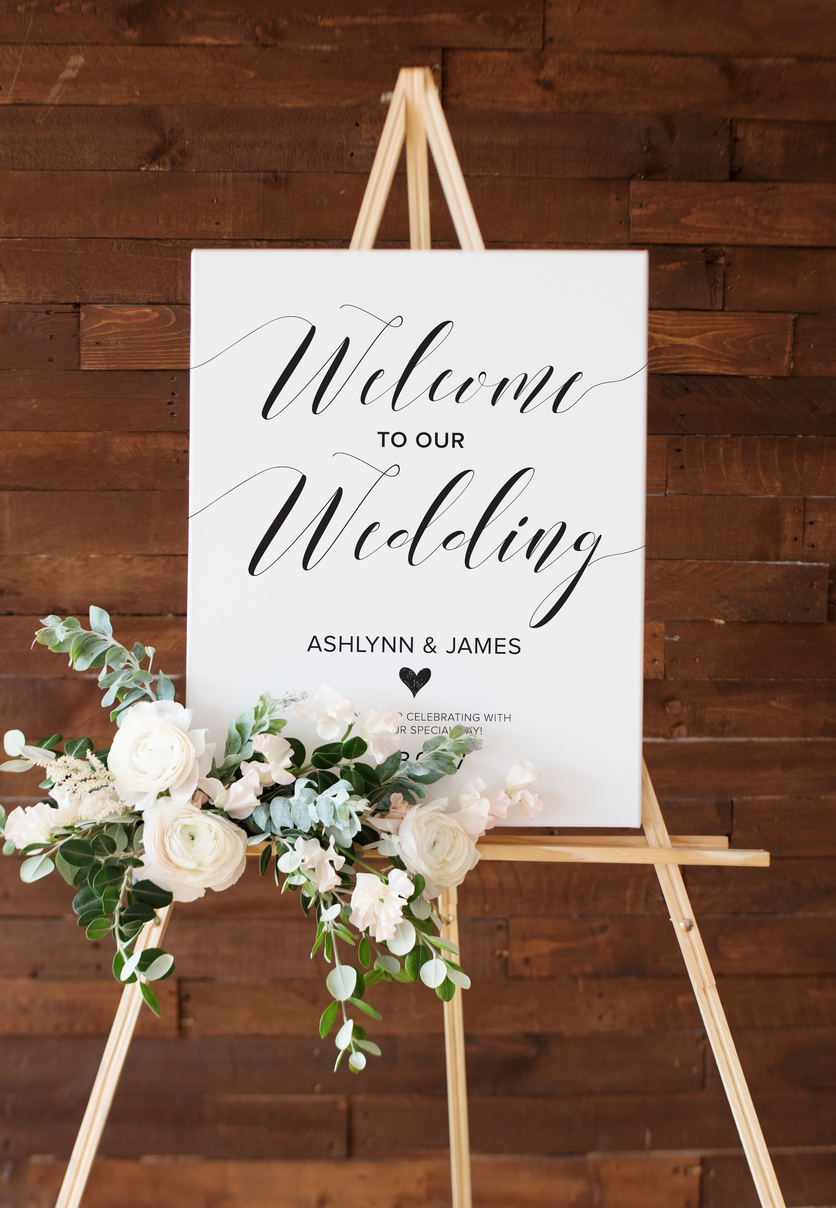 Welcome Wedding Entrance Sign Customizable Wedding Sign For Etsy In 2020 Wedding Reception Signs Wedding Reception Entrance Wedding Entrance