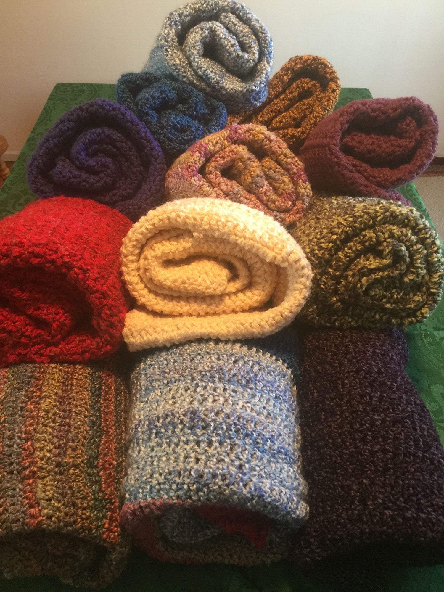 Crochet lap blankets made these for nursing home