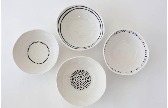 Kajsa Cramer's Dots and Stripes Bowls