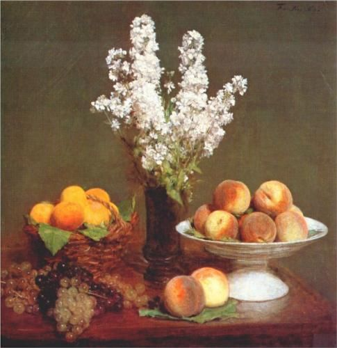 White Rockets and Fruit - Henri Fantin-Latour