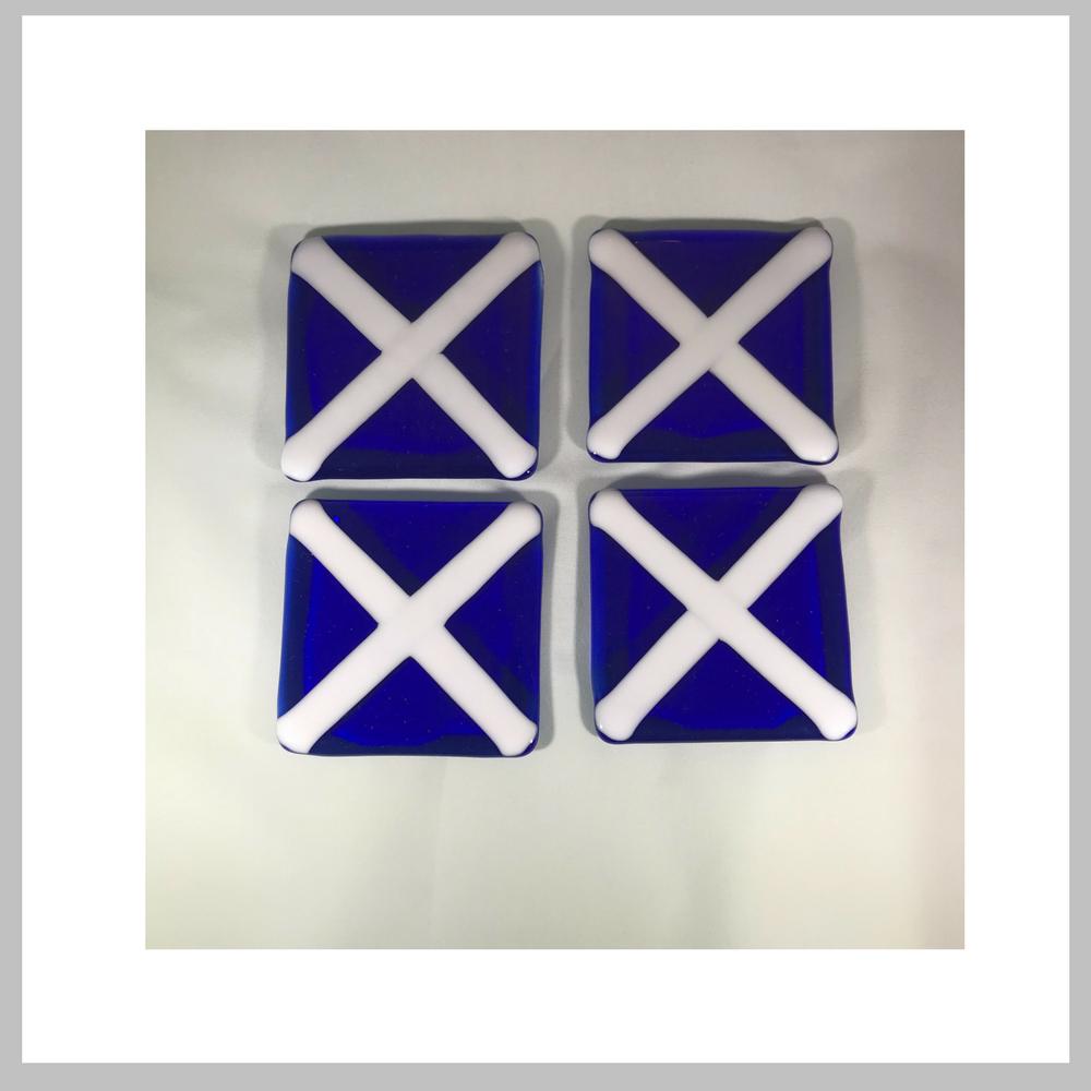 Glass Fused Blue And White Coasters Nautical Letter M Set Of 4 Nautical Letters White Coasters Blue White