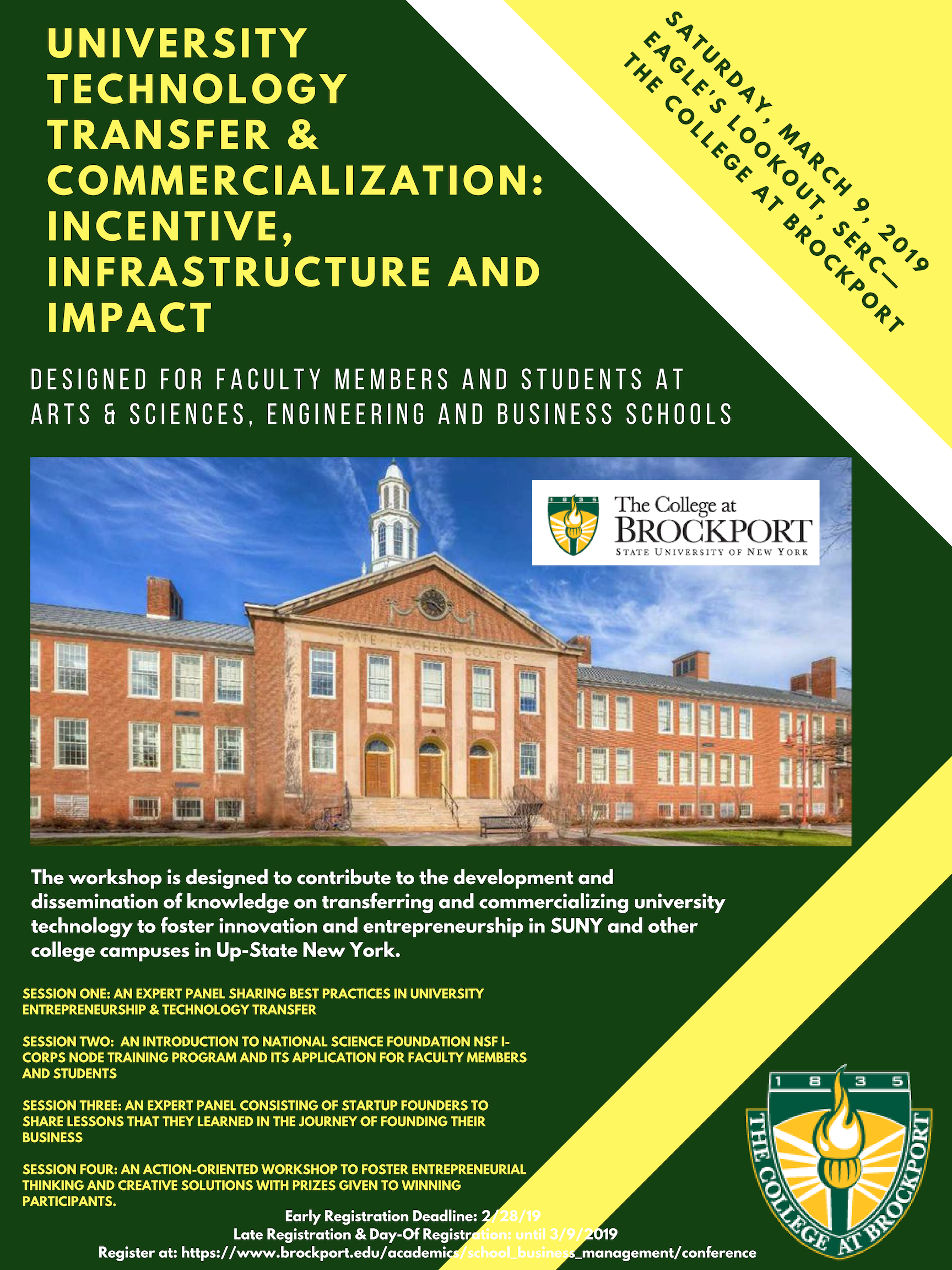 Poster Brockport College Technology Transfer Business School