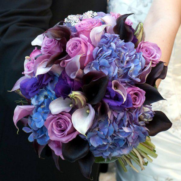 Wedding Wire Flowers: Blue Burgundy Bouquet Fall Spring Summer Wedding Flowers