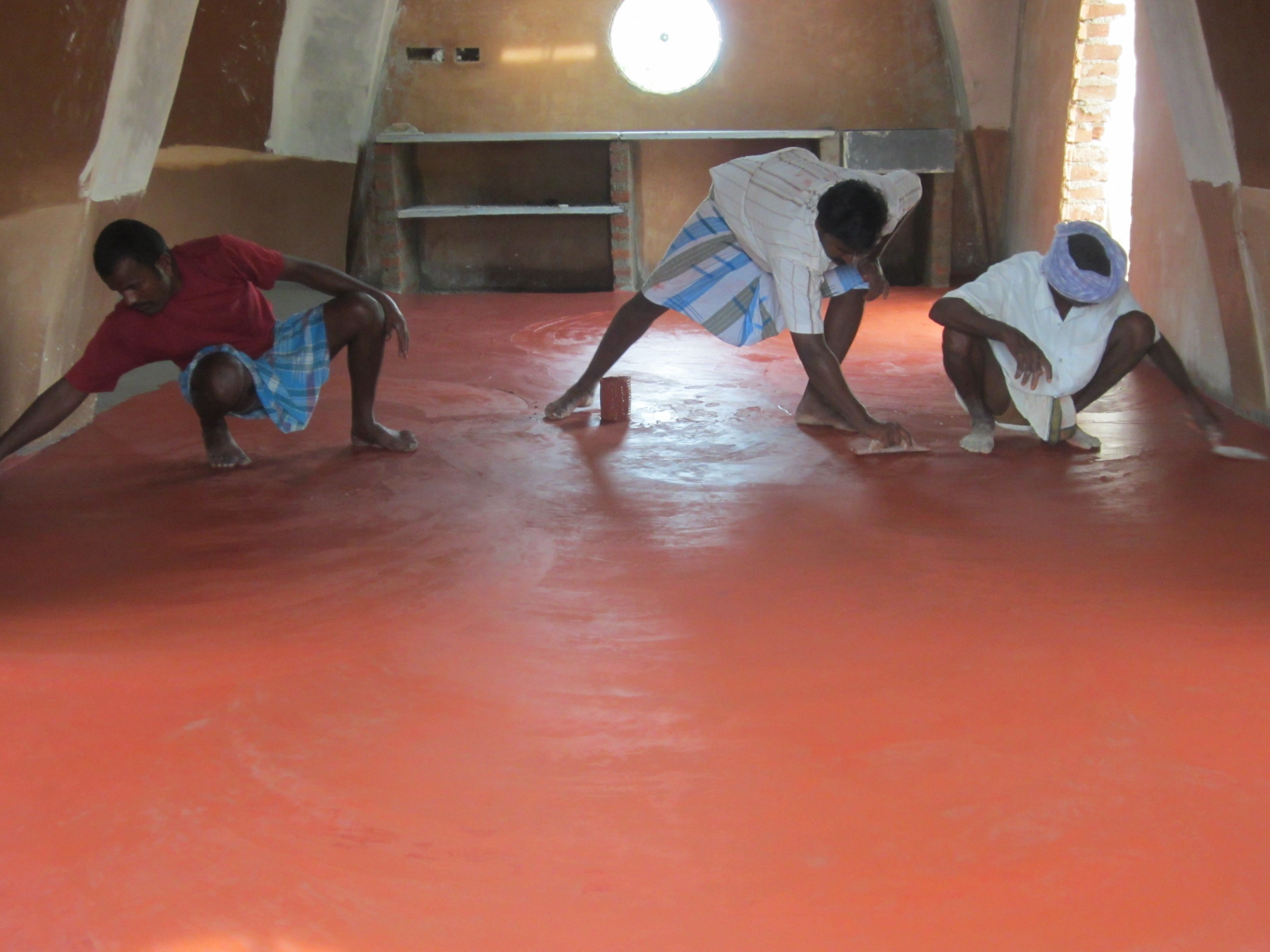We went with a traditional red-oxide floor, that also has a low ecological  footprint. This is one of the most durable, long-lasting flooring options  and ...