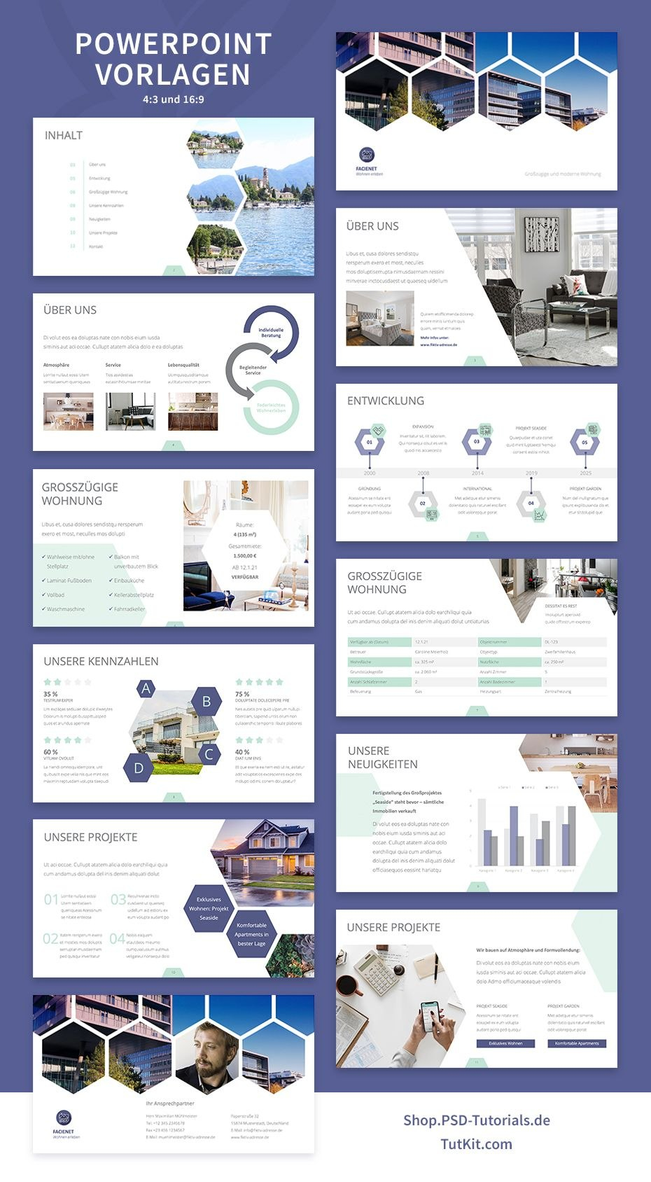 Designstarke Vorlagen Fur Immobilienfirmen Und Architekturburos For Unive Powerpoint Presentation Design Presentation Slides Design Powerpoint Design Templates