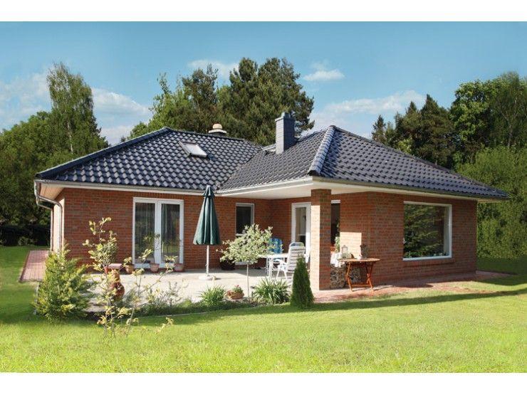 Hausbau modern walmdach  Bungalow 3-105-W - Einfamilienhaus von Elbe-Haus ...