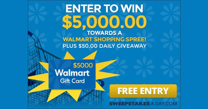 SHOPPING SPREE GIVEAWAY SWEEPSTAKES