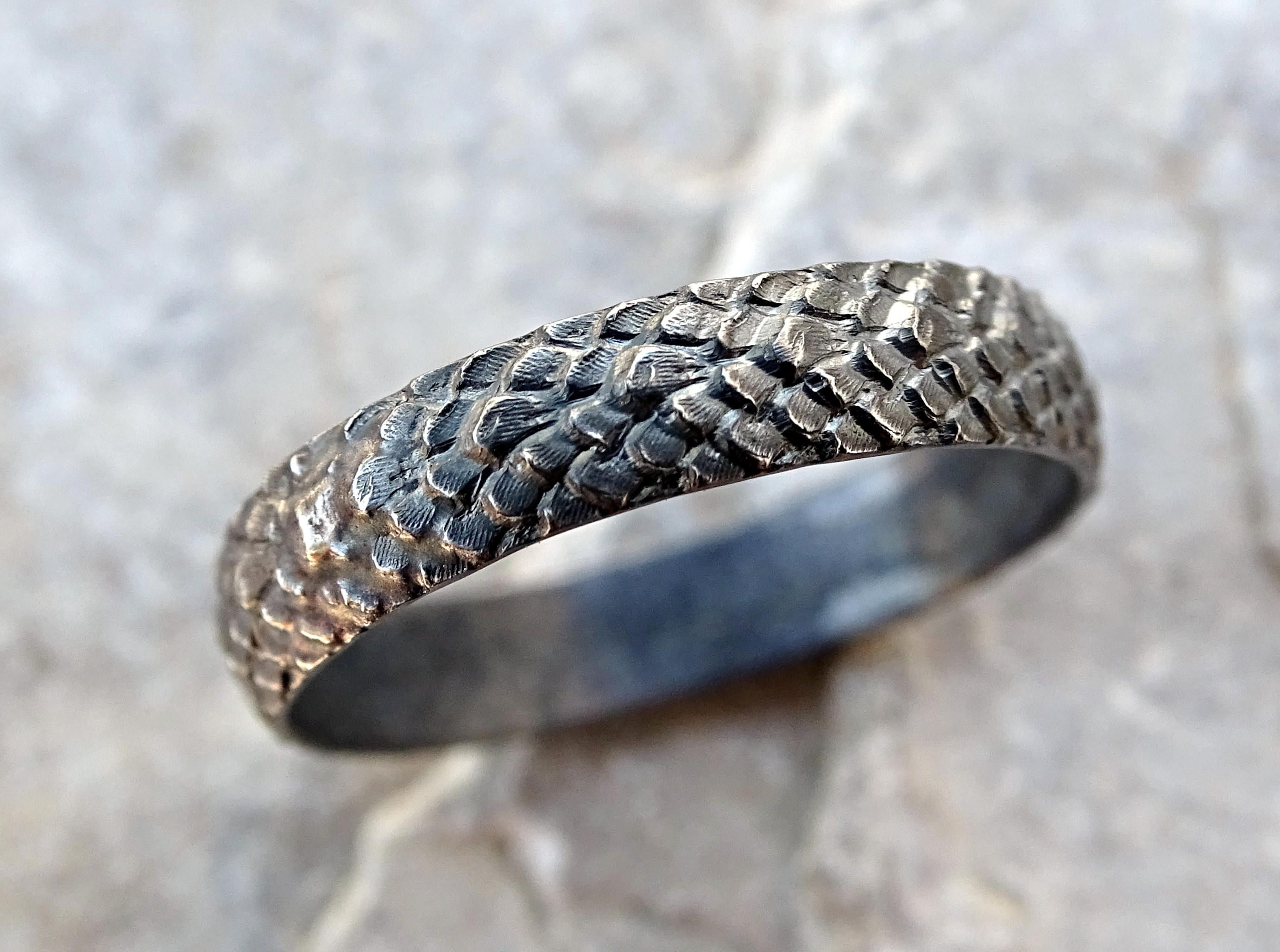 dragon scale ring silver feather ring me val wedding band black