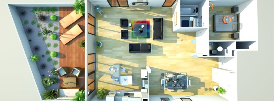 Plan maison architecte 3d gratuit for Maison architecte interieur