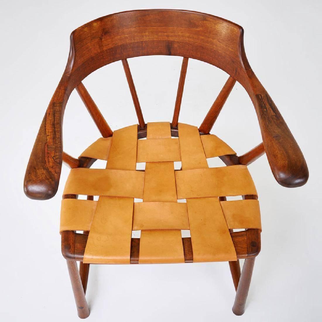 Rare Pair Of Walnut Captain Chair By Wharton Esherick In 2020 Wharton Esherick Walnut Chair Chair