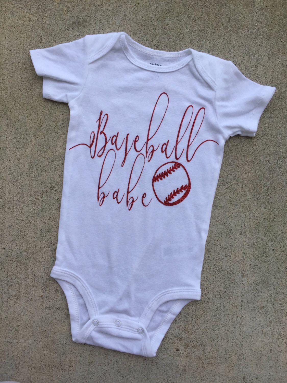 baseball shirt, baby girls baseball bodysuit, baseball ...