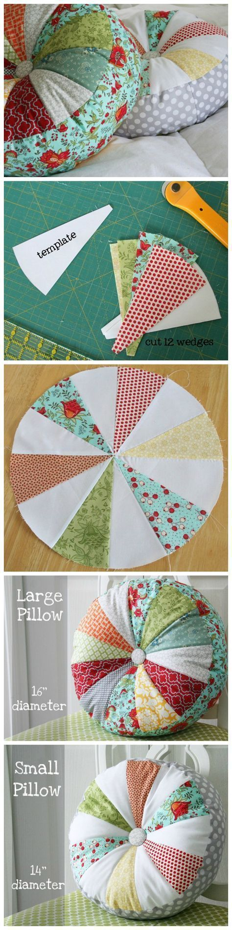 Photo of Scrappy sprocket patchwork pillow tutorial Source by patchwork