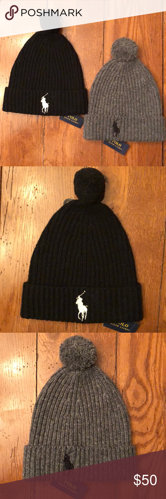 Polo Pom Pom Beanies Special Polo Pom Pom Beanies Special Two Beanie for 50  One Black One Grey Beanie Limited Time Only while supplies last Polo by  Ralph ... 77219fedba4