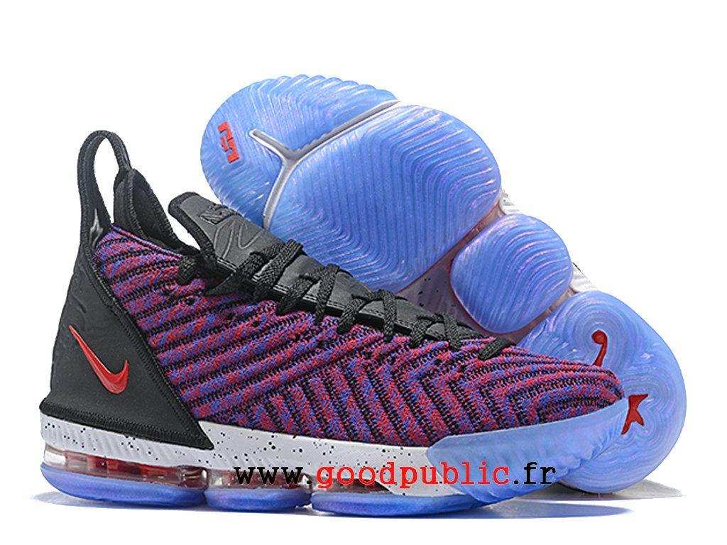 2042a7eb17c19 Nouveau Nike LeBron 16 Chaussures De BasketBall Pas Cher Prix Homme Violet  noir bleu AO2588 I107-1810171254-Air Jordan chaussures pas cher officielles  ...