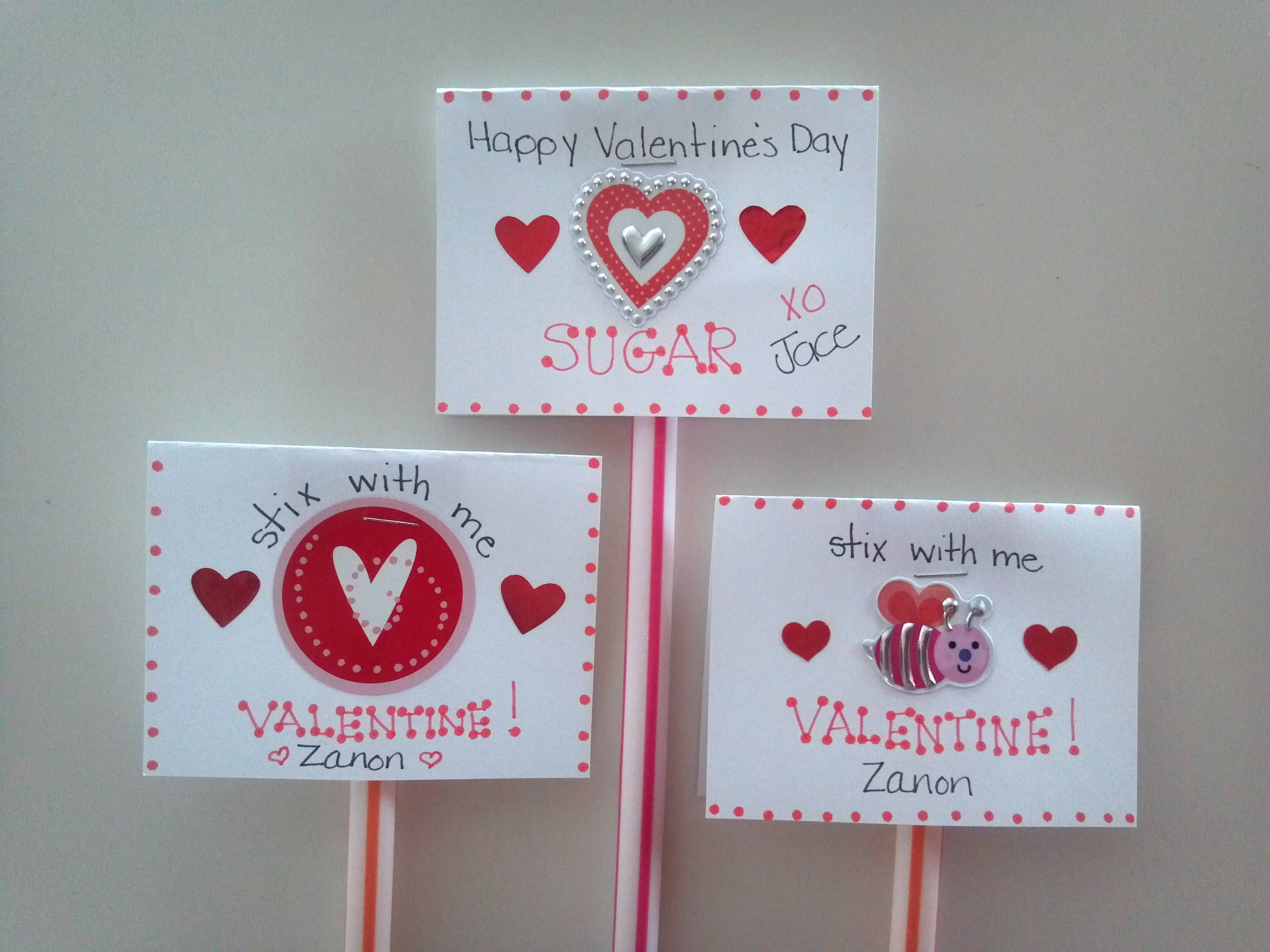 stix with me valentine i made these for my sons grade class and my grandsons kindergarten class - Valentines For Kindergarten Class