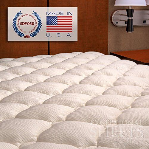 Extra Plush Bamboo Fitted Mattress Topper Made In America Queen Pad Bamboo Mattress Topper Cooling Mattress Pad Bamboo Mattress