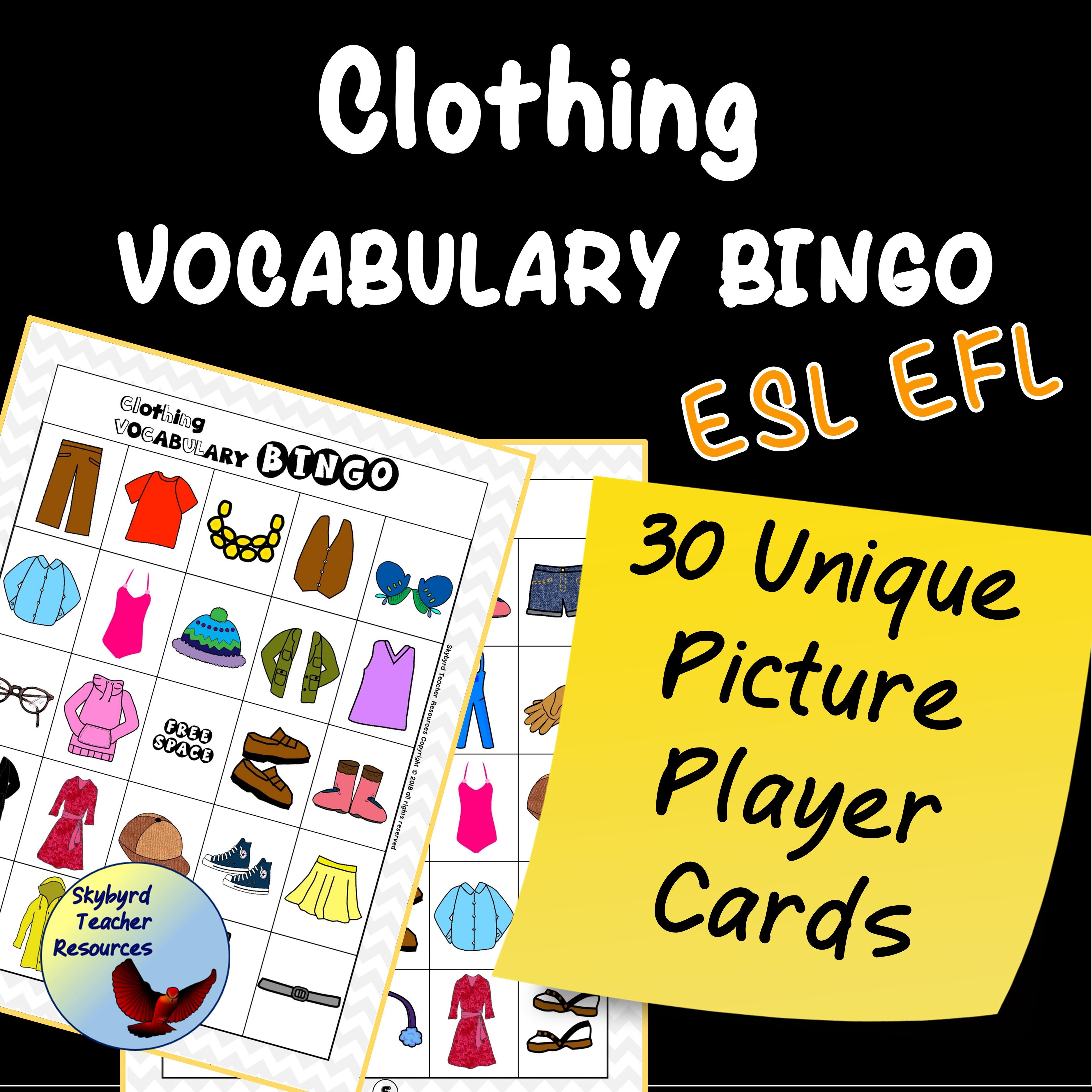 Classroom Vocabulary Bingo Game Esl Efl Esl Activities
