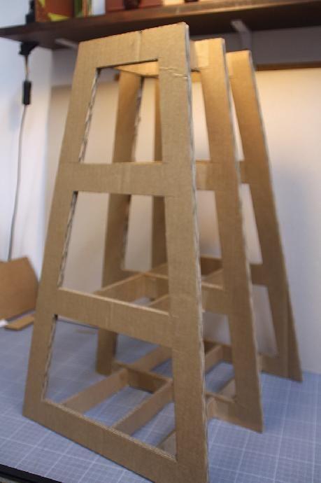 Tutoriel tabouret ou meuble d co en carton cr ations en - Meuble en carton tuto ...
