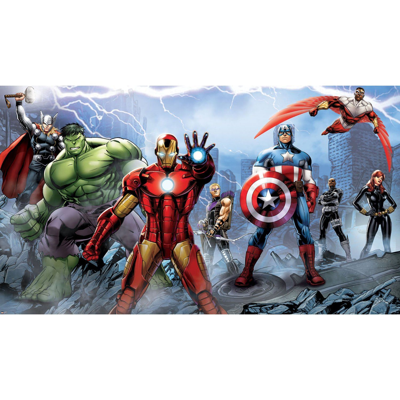 RoomMates JL1292M Ultra-Strippable Avengers Assemble Mural, 6-Feet x 10.5-Feet, 1-Pack - Wall Murals - Amazon.com