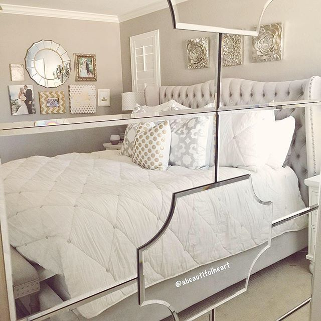 Simplicity Leaner Mirror Mirrored Bedroom Furniture