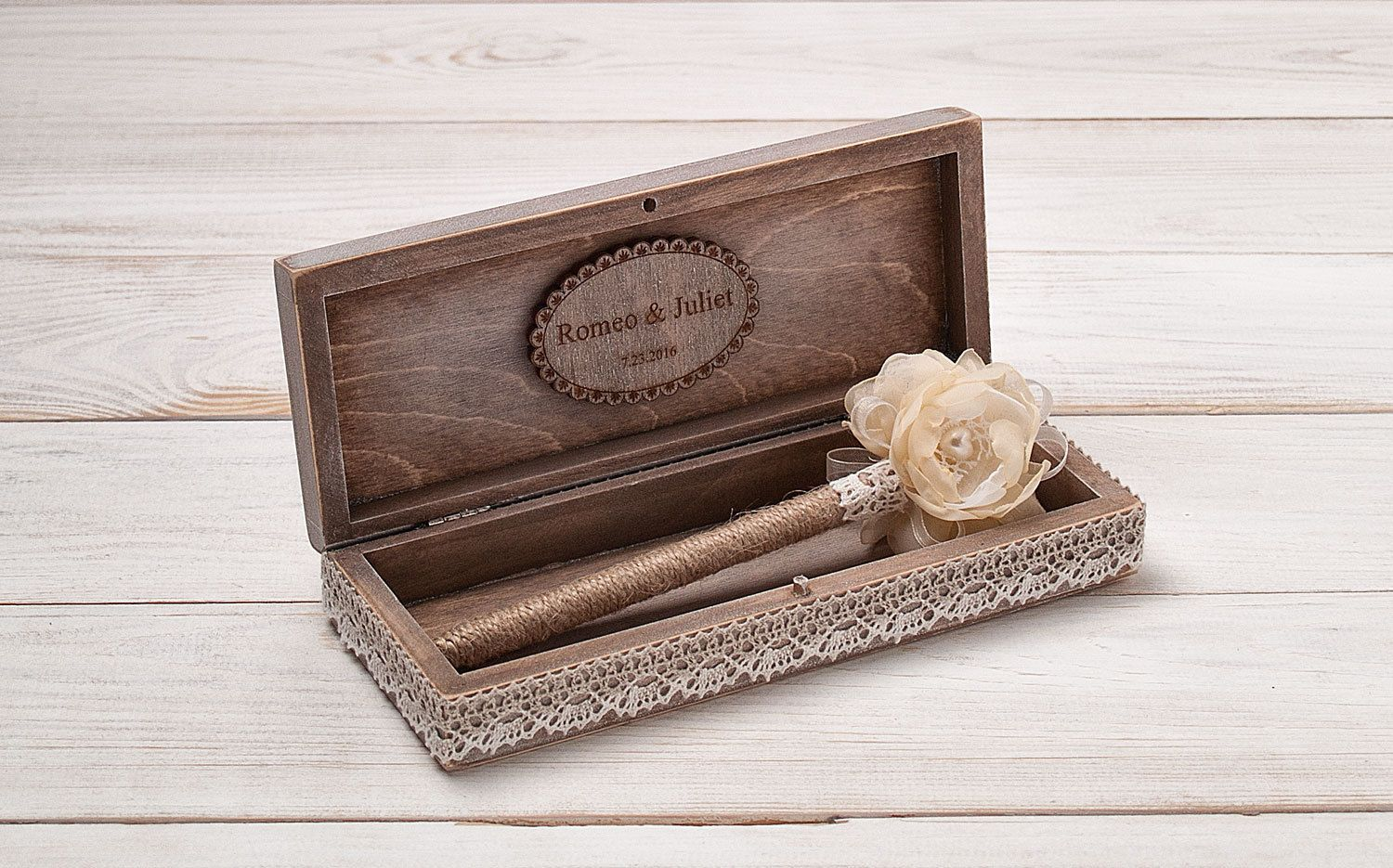 Wedding Guest Book Pen Personalized Holder Bridal Shower Rustic Guestbook Pens