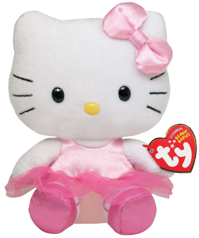 aa8d6b1468d67 Hello Kitty de Pelúcia com Roupinha Rosa de Bailarina TY Beanie Baby - 20  cm Hello Kitty Bailarina  mais fofa impossível!