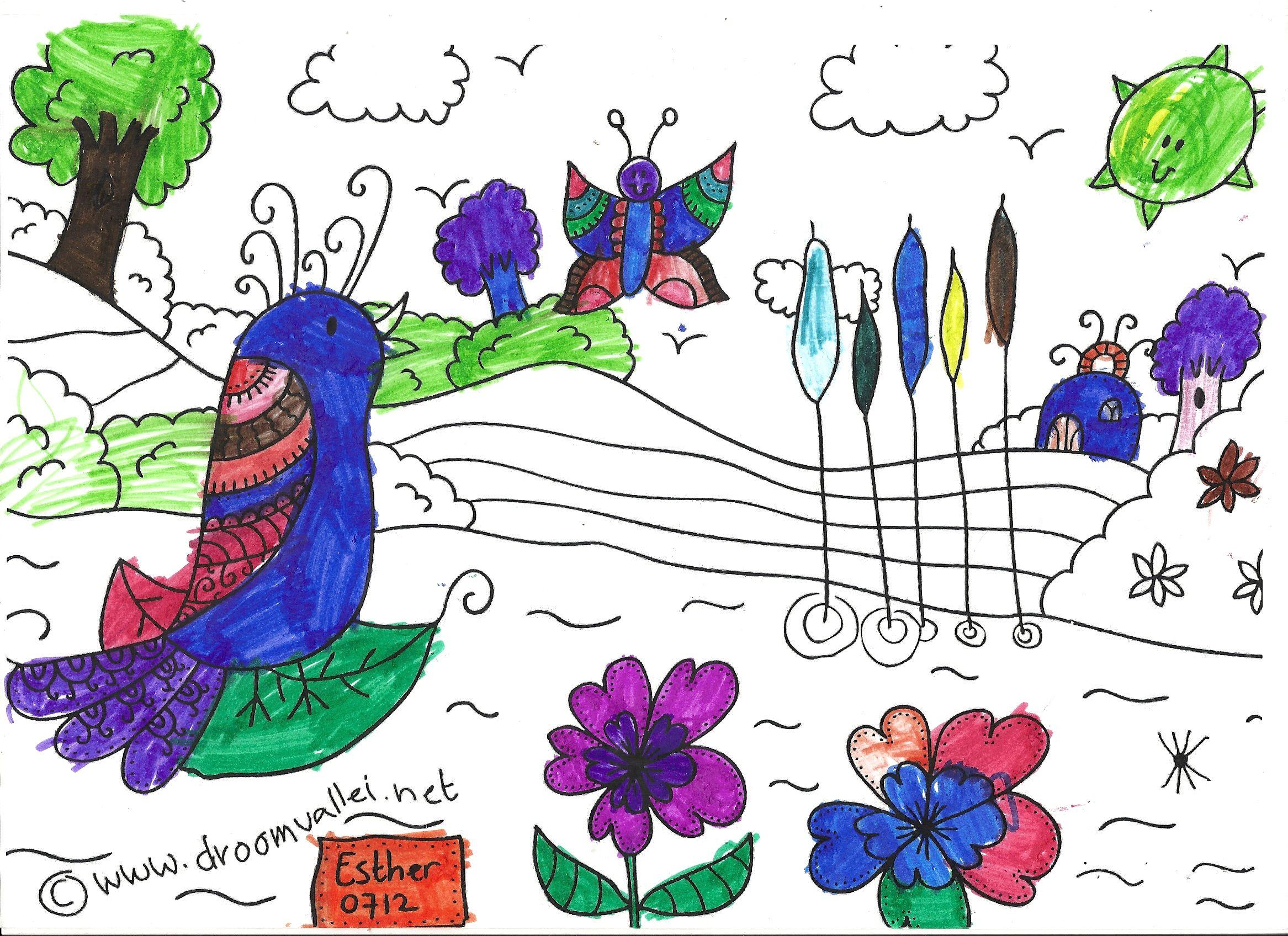 Pin Op Droomvallei Vogel Vera Kleurplaat Wedstrijd
