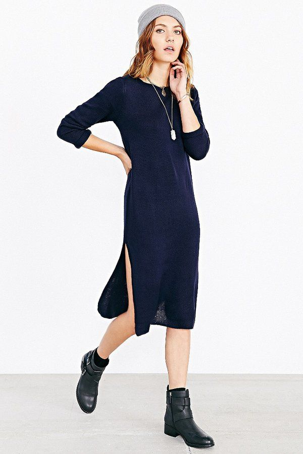 3123b067812 Silence   Noise Silence + Noise High-Slit Midi Sweater Dress on  shopstyle.com