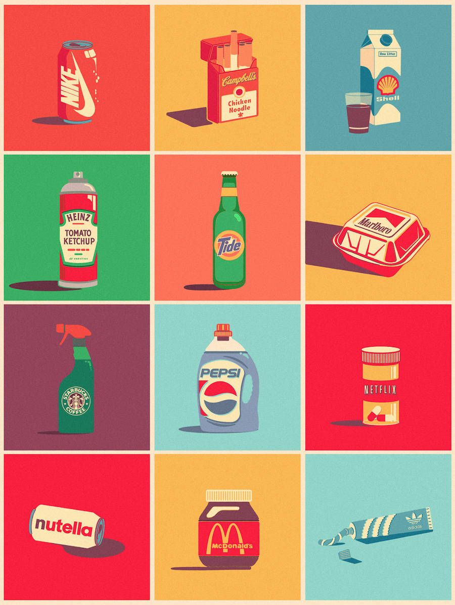 Inventive Brand Mix Digital Illustrations