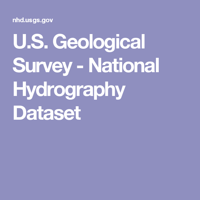 U.S. Geological Survey - National Hydrography Dataset