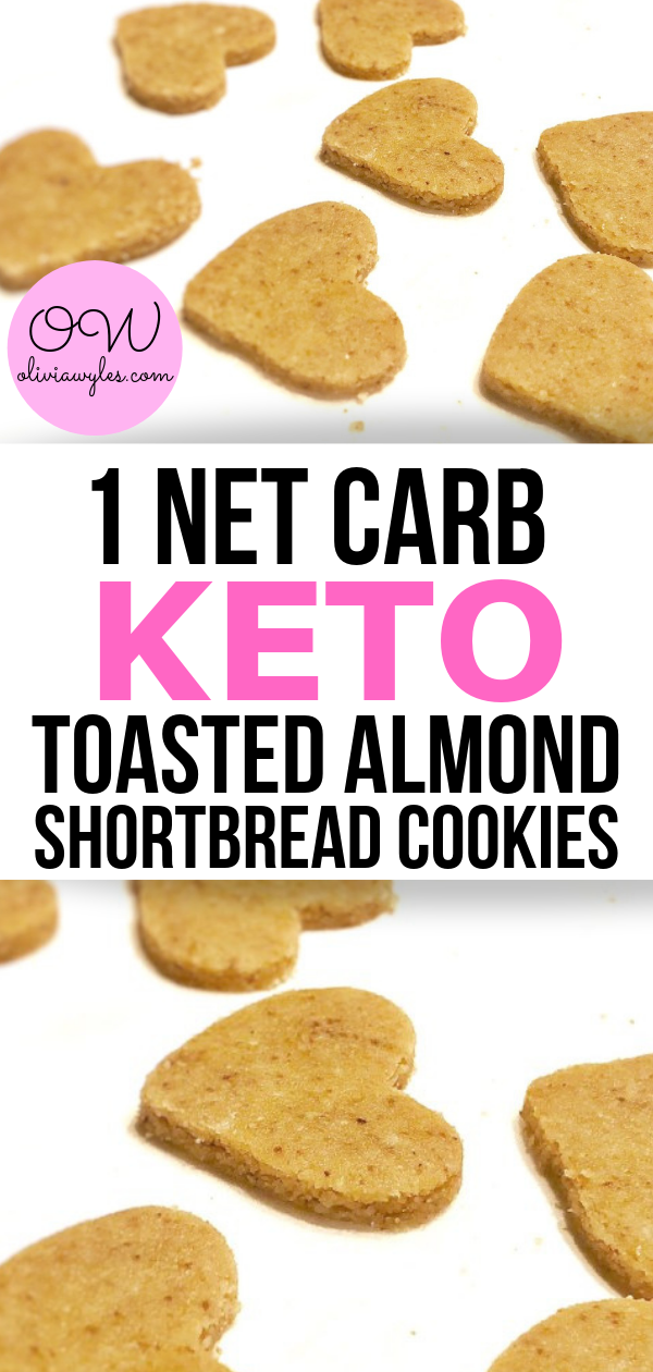 Keto Toasted Almond Shortbread Cookies | Olivia Wyles #ketodesserts
